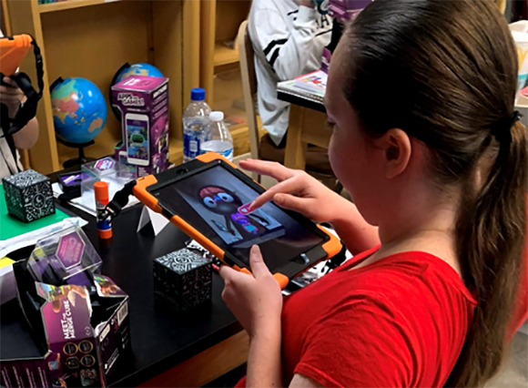 Young girl on a tablet